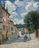 Альфред Сислей. Улица в Морэ-сюр-Луан