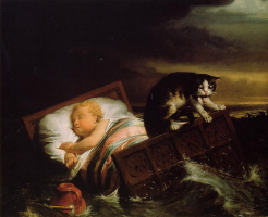 Лоуренс Альма-Тадема. Наводнение в Бисбосе в 1421 году