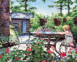 Лора Берри. Маленький ребенок в саду
