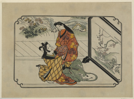 Hishikawa Moronobu. The embrace of the lovers