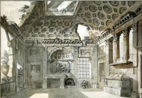 Шарль-Луи Клериссо. Эскиз росписи западной стены комнаты-руины