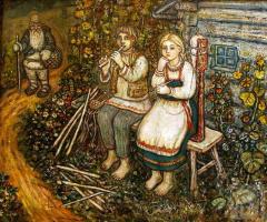 Ефим Васильевич Честняков (Самуилов). Крестьянские дети