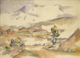 Paul Cezanne. Mount Sainte-Victoire, seen from the bridge of Bayeux in Meyreuil