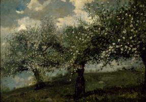 Уинслоу Хомер. Девушка, собирающая цветы с яблони