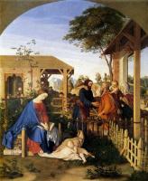Юлиус Шнорр фон Карольсфельд. Семейство Святого Иоанна Крестителя посещяет семью Христа
