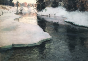 Frits Thaulow. A Mountain Stream