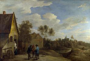 Давид Тенирс Младший. Вид деревни