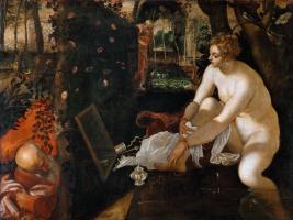 Якопо Тинторетто. Суса́нна и старцы. Якопо Тинторетто, 1557