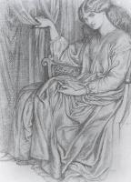 Данте Габриэль Россетти. Сидящая женщина