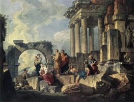 Giovanni Paolo Pannini. Apostle Paul preaching on the ruins