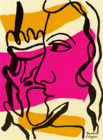Fernand Leger. Profile with flower