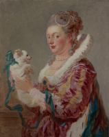 Жан Оноре Фрагонар. Портрет дамы с собачкой