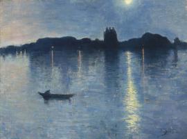 Жан Дельвиль. Лунное озеро