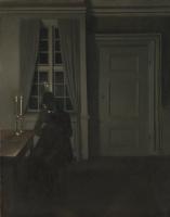 Вильгельм Хаммерсхёй. Нумизмат. Портрет брата художника