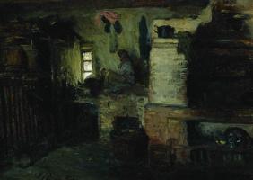 Ilya Efimovich Repin. In the house