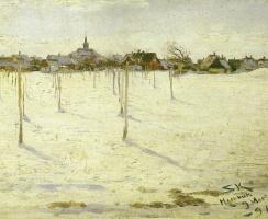Peder Severin Kreyer. Hornbaek in winter
