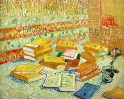 Vincent van Gogh. Still life with French novels and a rose