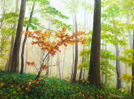 Savely Kamsky. Creeping fogs through trees ...