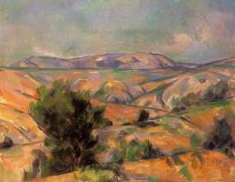 Paul Cezanne. Mount Sainte-Victoire from Garden