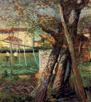 Умберто Боччони. Сельская местность с деревьями
