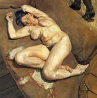Люсьен Фрейд. Портрет обнаженной с отражением