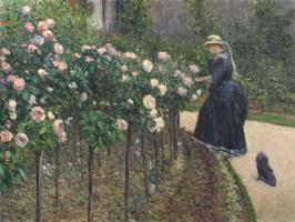 Розы в саду в Пти-Женвилье