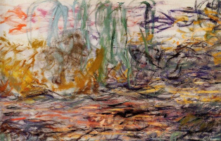 Клод Моне. Водяные лилии (левая половина)