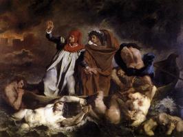 Eugene Delacroix. Dante and Virgil in Hell (Dante's Boat)