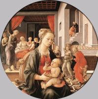 Фра Филиппо Липпи. Мадонна с Младенцем и сцены из жития святой Анны (Мадонна Бартолини)