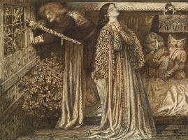 Данте Габриэль Россетти. Сэр Ланселот в королевской камере