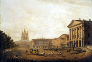 Karl Petrovich Beggrov. View of the Smolny Institute