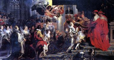 Питер Пауль Рубенс. Коронация Марии Медичи