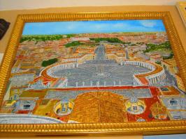 Эдуард Поникаров. Ватикан, вид с купола собора св Петра