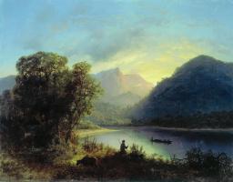 Лев Феликсович Лагорио. Горное озеро. 1852