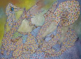 "Сакен Нажметдинович Гумаров. Сон с белым ангелом из цикла ""Сон"""