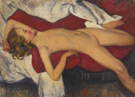 Zinaida Evgenievna Serebryakova. Sleeping girl
