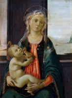 Sandro Botticelli. Madonna by the sea