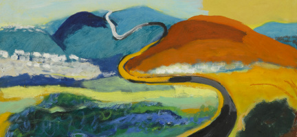Mane-Katz (Immanuel Katr Leiserovich). Hilly landscape. Fragment