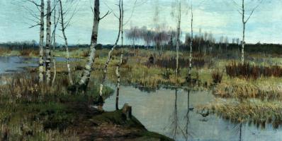 Ричард Александрович Берггольц. Весенний пейзаж