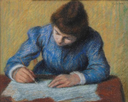 Федерико Дзандоменеги. Пишущая девочка (Задача)