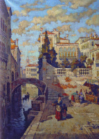 Константин Иванович Горбатов. Набережная в Венеции