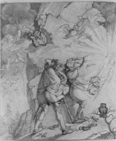 Петер фон Корнелиус. Фауст и Мефистофель на пути к вершине Брокен