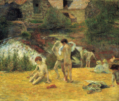 Paul Gauguin. Bathers at the mill Bois d'amour, Pont-Aven