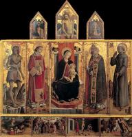 Карло Кривелли. Алтарь из церкви Сан Сильвестро в Масса Фермана, общий вид