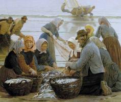 Педер Северин Крёйер. Женщины и рыбаки Хорнбека