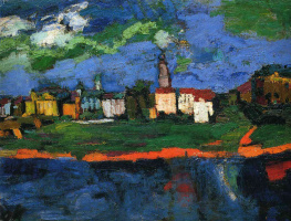Oskar Kokoschka. The Elbe near Dresden