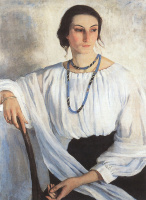 Зинаида Евгеньевна Серебрякова. Портрет Е. Е. Зеленковой, урожденной Лансере, сестры художницы.