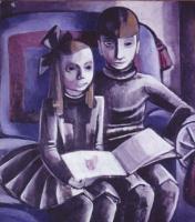 Жанна Маммен. Два ребенка читают