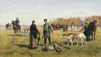 Алексей Данилович Кившенко. Заструненный волк. 1891