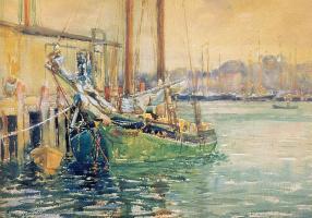 Джордж Нойес. Зеленая лодка